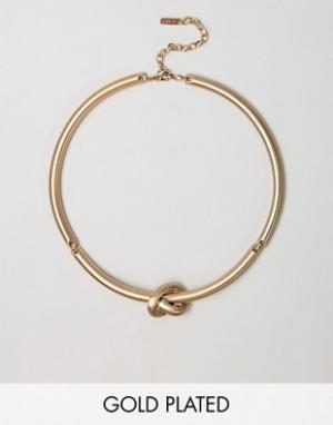 Pilgrim Ожерелье с узлом. Цвет: золотой