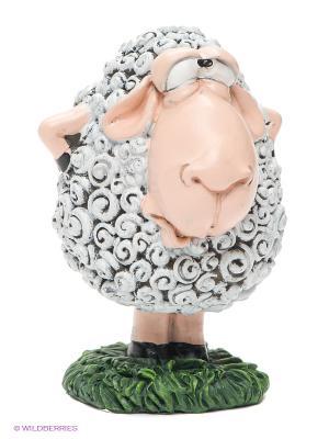 Статуэтка Овца Тетушка Чарли The Comical World of Stratford. Цвет: серый, зеленый, кремовый