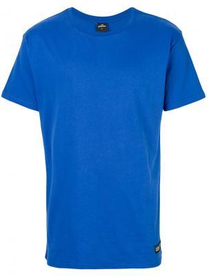 Классическая однотонная футболка Les (Art)Ists. Цвет: синий