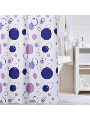 Штора для ванной IDDIS. Цвет: синий