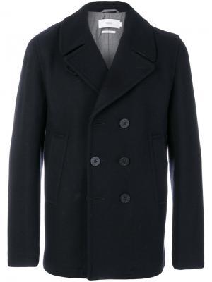 Двубортное пальто Closed. Цвет: синий