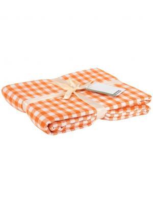 Плед 130*170 см vishi vishit-orange Cite Marilou. Цвет: белый, оранжевый