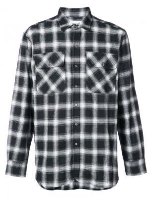 Рубашка в клетку Ovadia & Sons. Цвет: чёрный