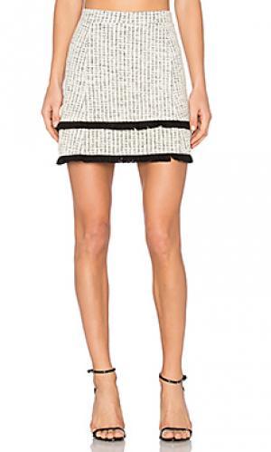 Потертая юбка ottoman twenty. Цвет: белый