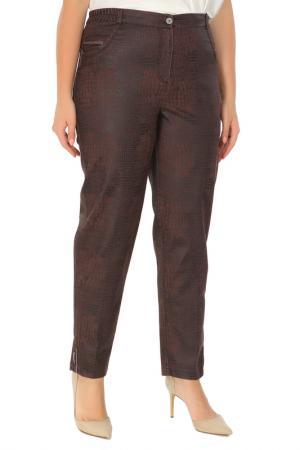 Зауженные брюки с застежкой на молнию Duran. Цвет: коричневый