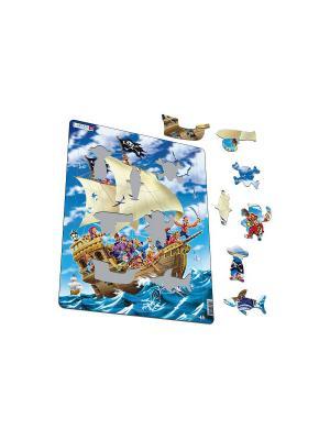 Пазл Пираты LARSEN AS. Цвет: белый, голубой, желтый, зеленый, оранжевый, синий