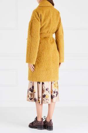 Шерстяное пальто Rochas. Цвет: желтый