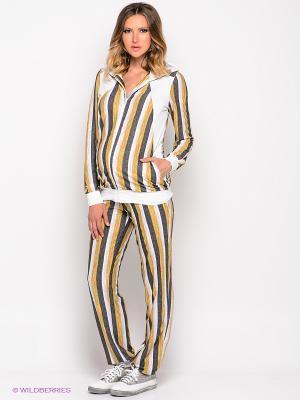 Спортивный костюм Русмар. Цвет: желтый, белый, темно-серый