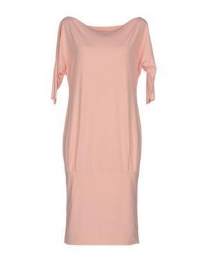 Платье до колена I-AM. Цвет: розовый