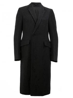 Длинное пальто-блейзер Ann Demeulemeester. Цвет: чёрный