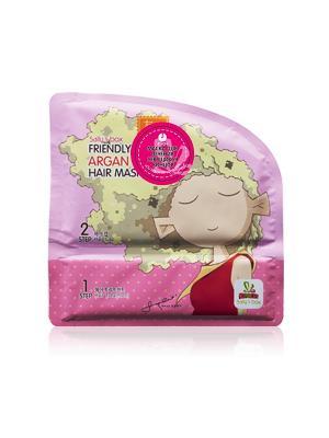 Маска восстанавливающая для волос Sally's box. Цвет: розовый