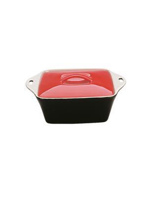 Керамическая кастрюля квадратная 0,6Л DEKOK. Цвет: черный, красный