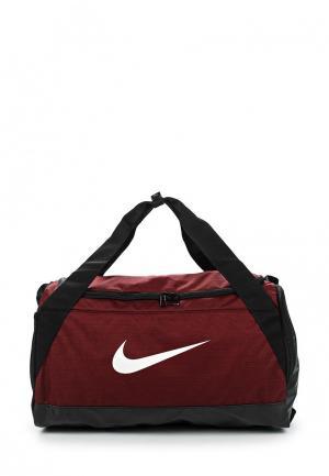 Сумка спортивная Nike. Цвет: бордовый