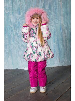 Куртка Sweet Berry. Цвет: белый, бледно-розовый