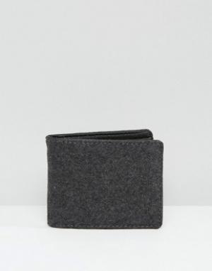 Racing Green Серый бумажник из мельтона. Цвет: серый