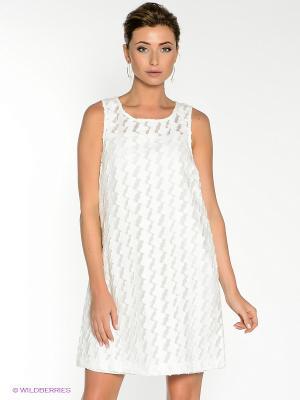 Платье COMPAGNIA ITALIANA. Цвет: белый