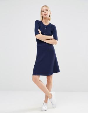 ADPT Пышная юбка. Цвет: темно-синий