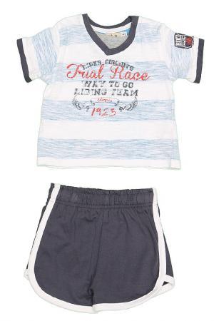 Комплект: футболка и шорты Olimpias. Цвет: белый