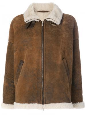 Classic shearling jacket Salvatore Santoro. Цвет: коричневый