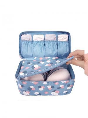Органайзер для перевозки белья Бюсткейс RUGES. Цвет: голубой