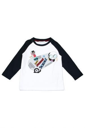 Футболка Little Marc Jacobs. Цвет: белый, темно-синий