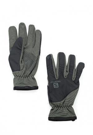Перчатки Salomon. Цвет: серый
