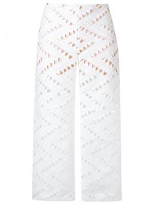 Укороченные брюки Tufi Duek. Цвет: белый