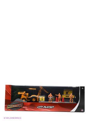 Игровой набор Строительная команда с трактором HTI. Цвет: желтый