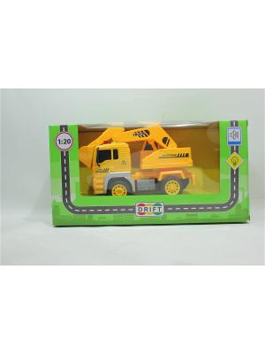 Машина с экскаватором Drift. Цвет: желтый