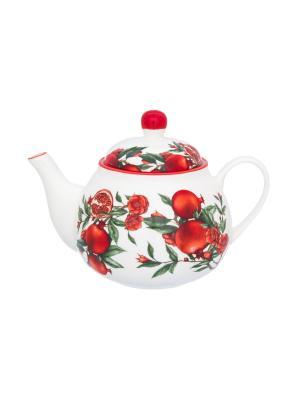 Чайник Гранаты Elan Gallery. Цвет: красный, белый, зеленый