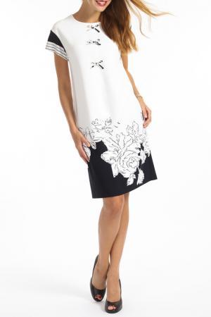 Платье TOK. Цвет: white and navy blue