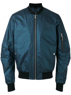 Куртка-бомбер Tech Odeur. Цвет: синий