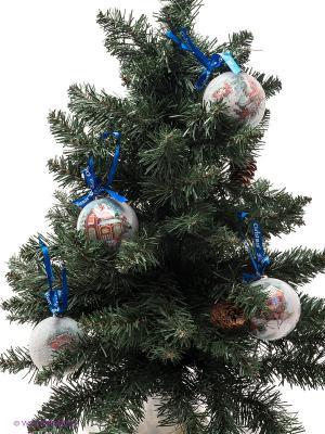 Набор шаров Mister Christmas. Цвет: серо-голубой, коричневый, красный, зеленый