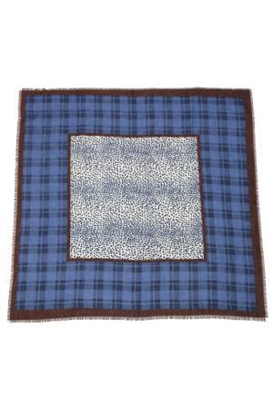 Платок F.FRANTELLI. Цвет: синий, коричневый