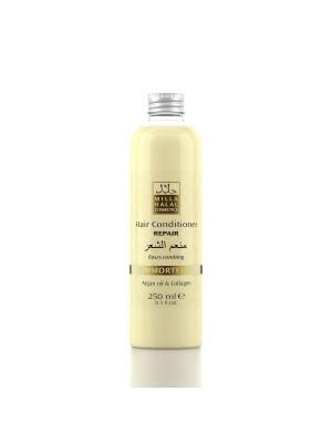 Кондиционер для восстановления поврежденных волос с маслом аргании и коллагеном IMMORTELLE MILLA HALAL COSMETICS. Цвет: желтый, белый