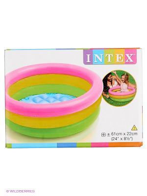 Бассейн Радуга Intex. Цвет: розовый, желтый, зеленый