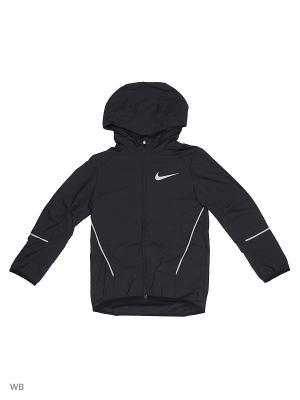 Куртка B NK JKT HD RUN Nike. Цвет: черный