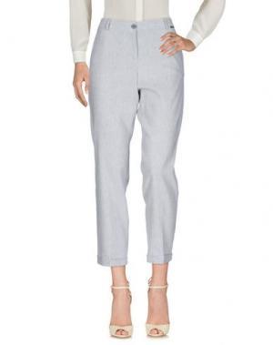 Повседневные брюки BREBIS NOIR. Цвет: серый