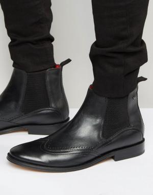 Base London Кожаные ботинки челси XXI. Цвет: черный