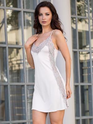 Ночная сорочка MIA-DIVA. Цвет: молочный