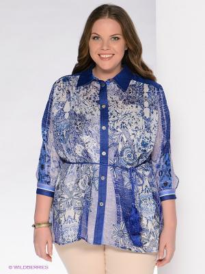 Блузка Giani F. Цвет: синий, белый