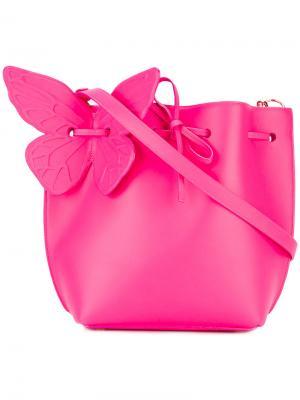Сумка на плечо с бабочкой Sophia Webster. Цвет: розовый и фиолетовый