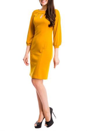 Платье MONDIGO. Цвет: горчичный