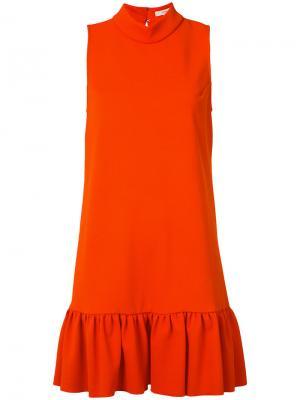 High neck frill dress Trina Turk. Цвет: красный