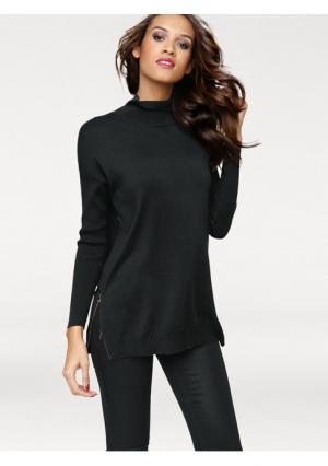 Удлиненный пуловер PATRIZIA DINI. Цвет: бежевый меланжевый, коричневый