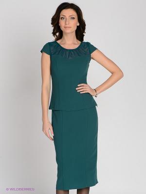 Блузка MELANY. Цвет: зеленый