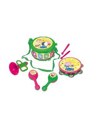 Набор музыкальных инструментов Peppa Pig. Цвет: светло-зеленый, голубой, красный, розовый