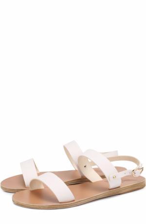 Сандалии Clio из натуральной кожи Ancient Greek Sandals. Цвет: белый