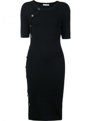 Трикотажное платье с декоративными пуговицами Altuzarra. Цвет: чёрный