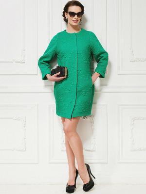 Пальто La vida rica. Цвет: зеленый